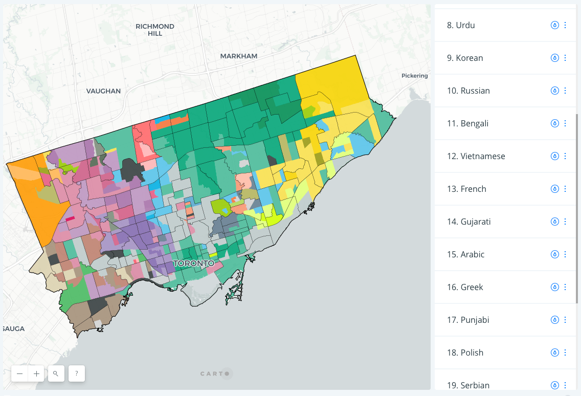 The Toronto Language Map